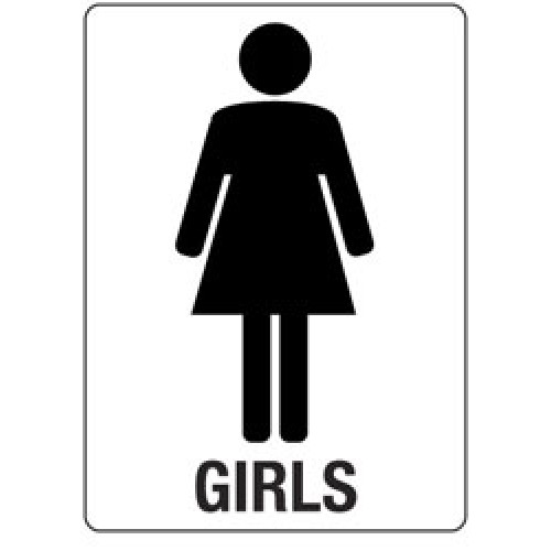 Girls bathroom sign clipartsco for Girls bathroom symbol