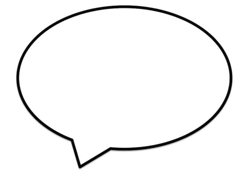 picture relating to Printable Speech Bubbles identified as Printable Speech Bubbles -