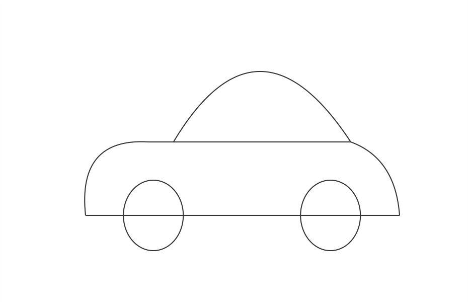 Simple Car Drawing Pictures 5 HD Wallpapers
