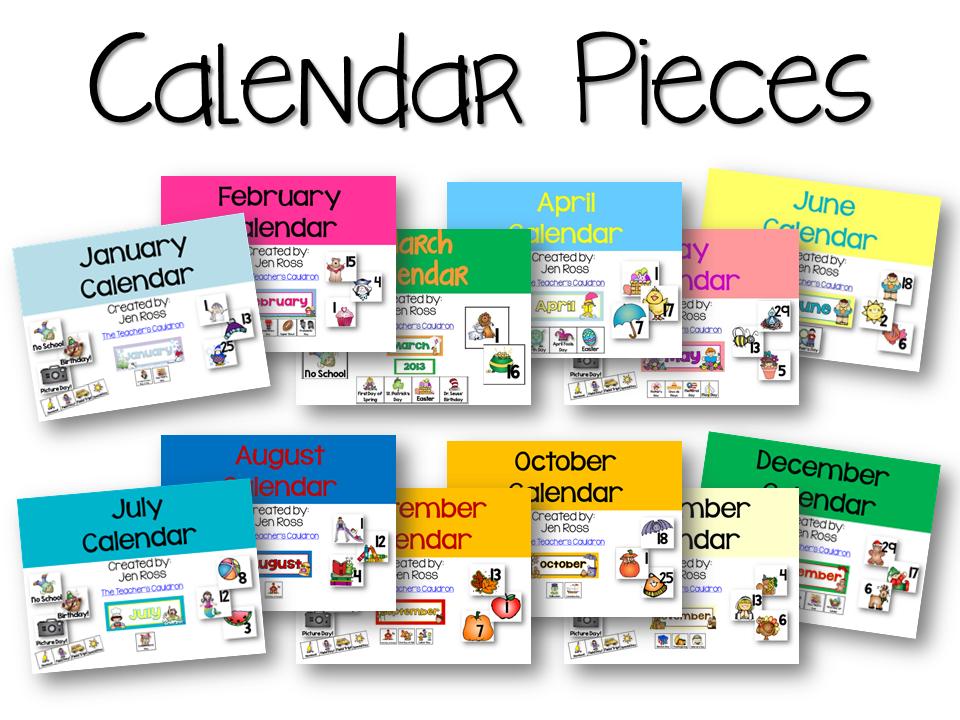 Art Teacher Calendar : Calendar clip art for teachers cliparts