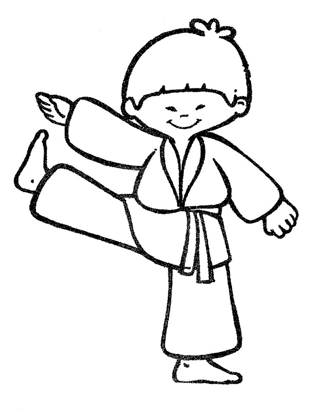 free karate coloring pages - photo#21