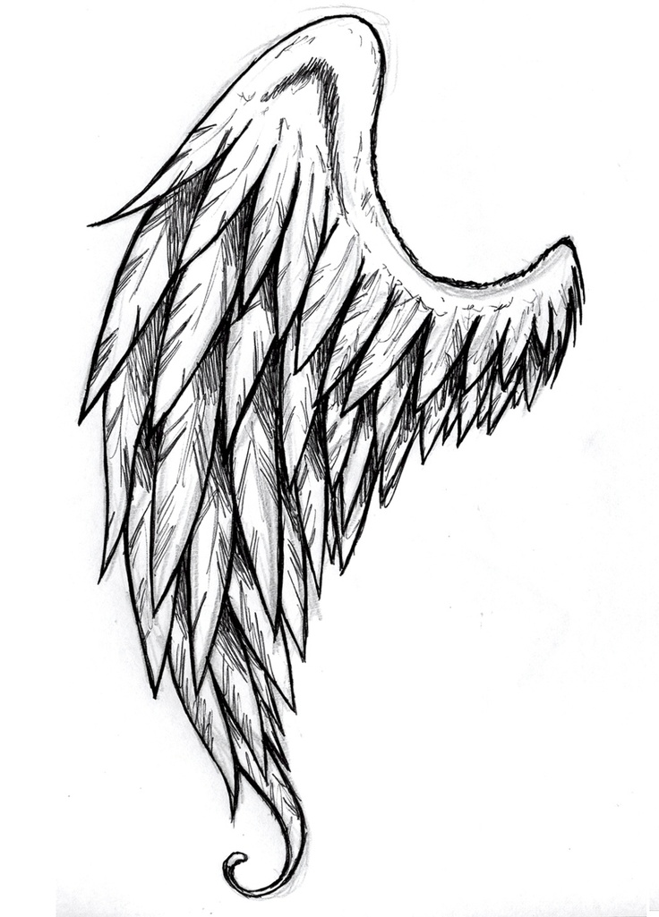 Angel Line Drawing - Cliparts.co