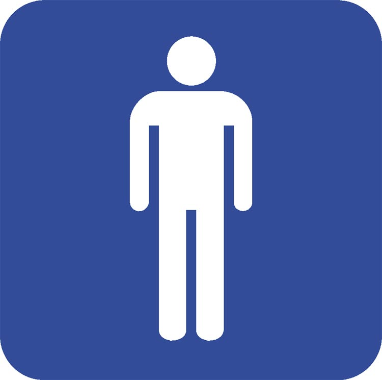 Male Bathroom Sign