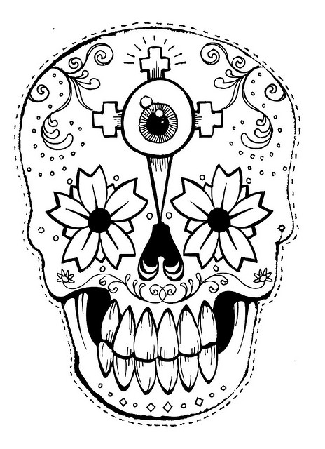 Pictxeer » Search Results » Printable Day Of The Dead Masks