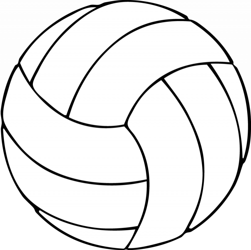 black and white volleyball   cliparts co