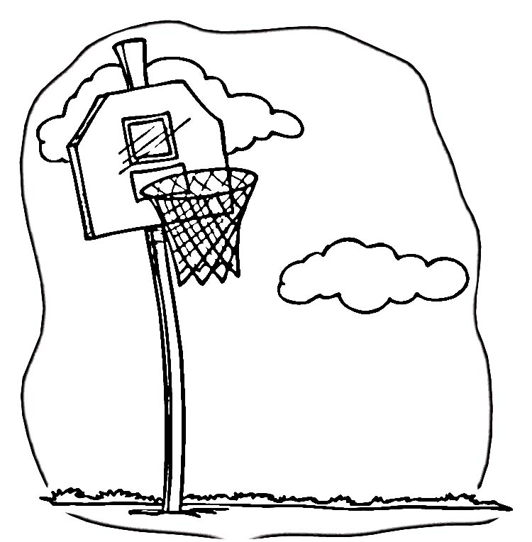 Line Art Basketball : Basketball line art cliparts