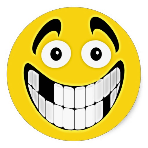 Cheesy Grin Emoticon - Cliparts.co