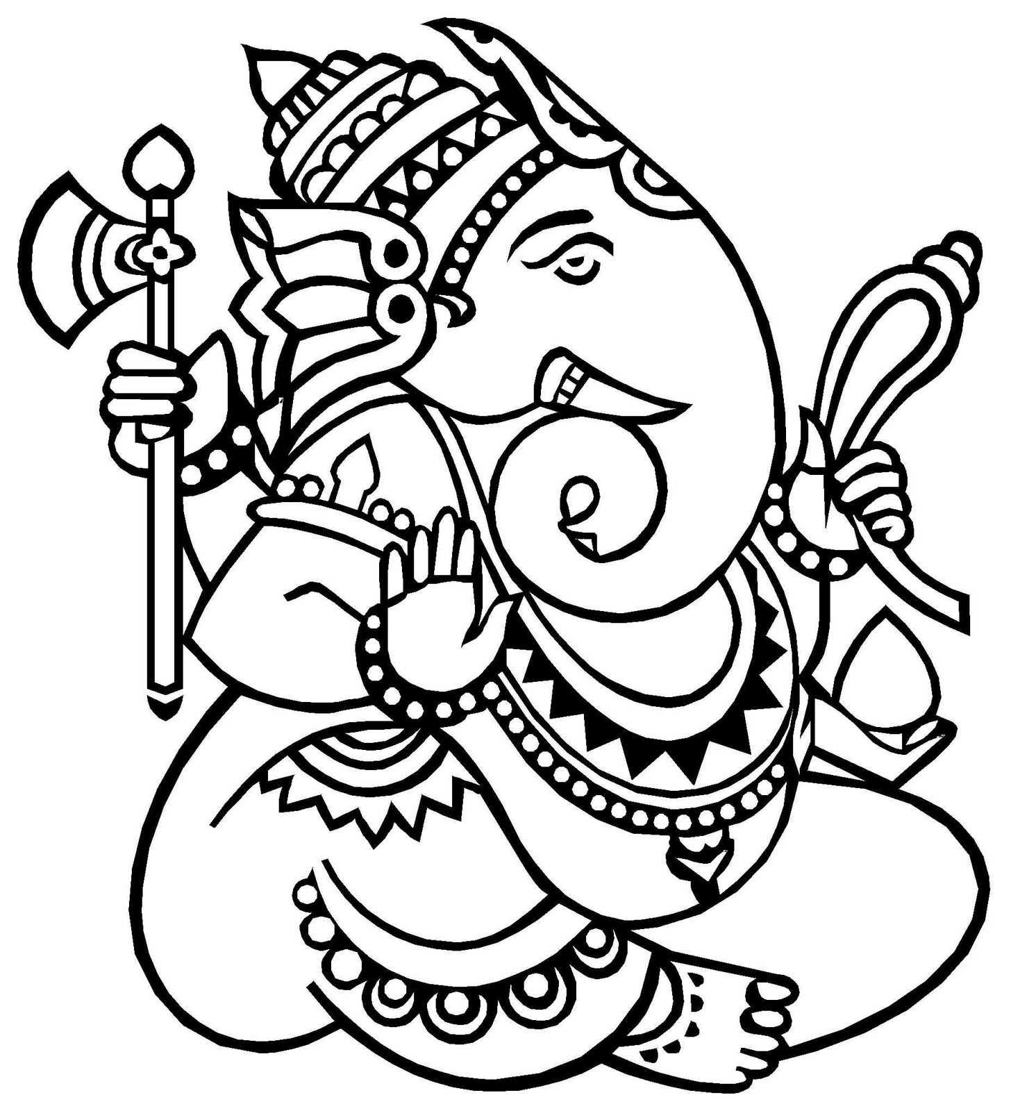 Ganesh Outline - Cliparts.co