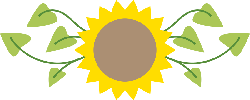 Sunflower - Free Flower Clip Art - BCDownload.