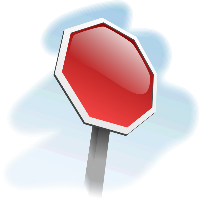 Clipart - stop-sign-angled 01