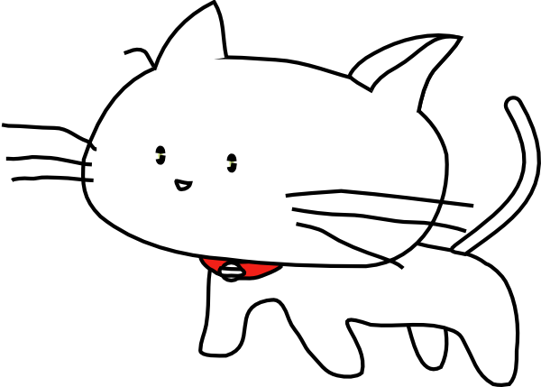 White Cartoon Cat clip art - vector clip art online, royalty free ...
