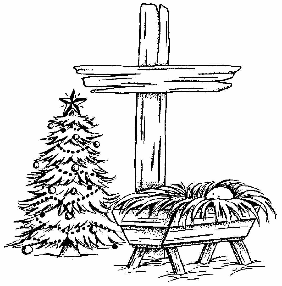 free clipart of baby jesus in a manger - photo #48