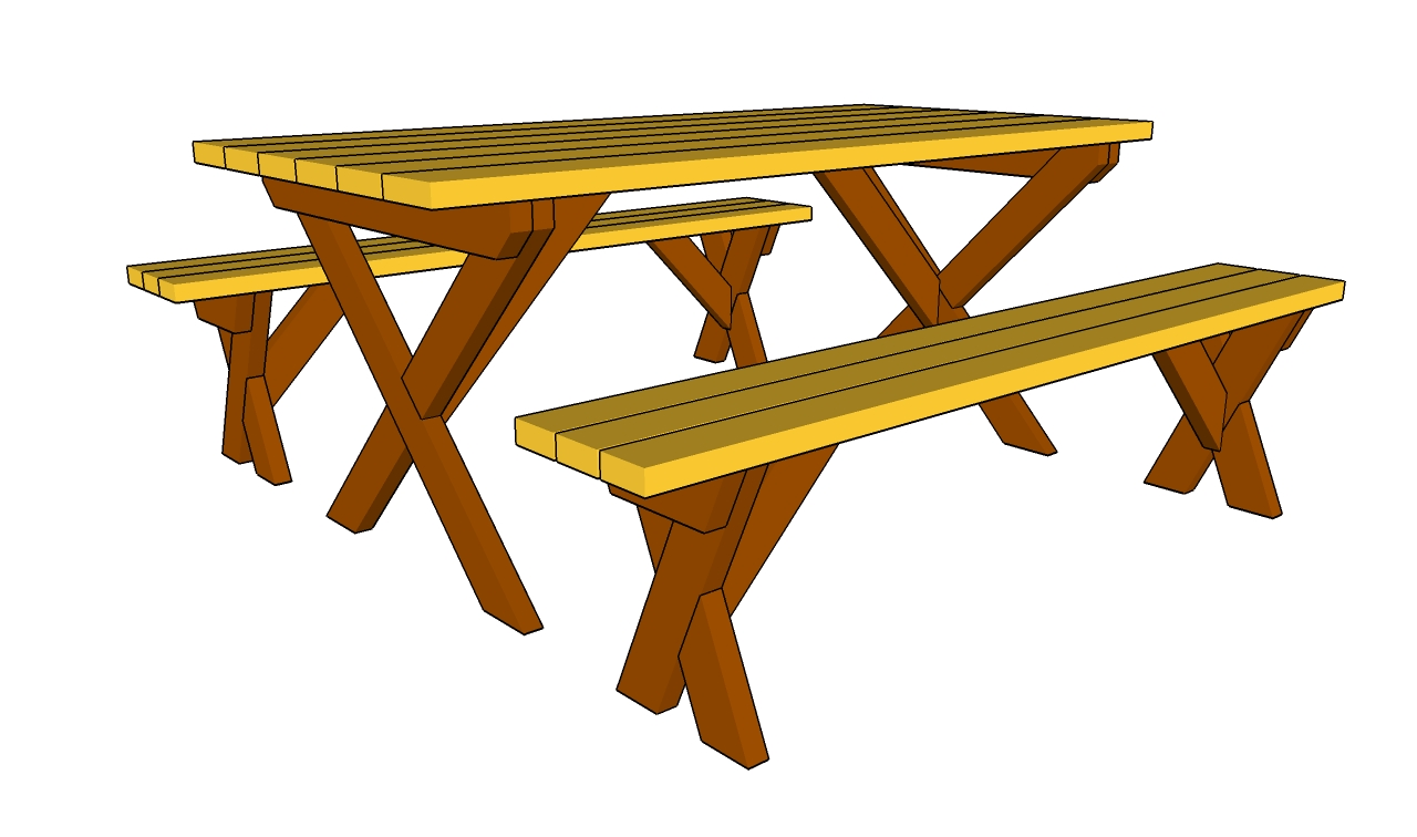 Picnic Table Bench Plans | Free Outdoor Plans - DIY Shed, Wooden ...