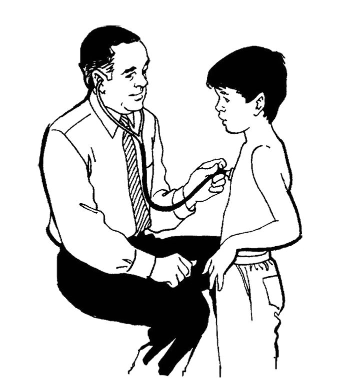 Printable Children Were Examined By Doctors Coloring Pages ...