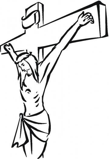 Jesus On The Cross Cartoon Clipartsco