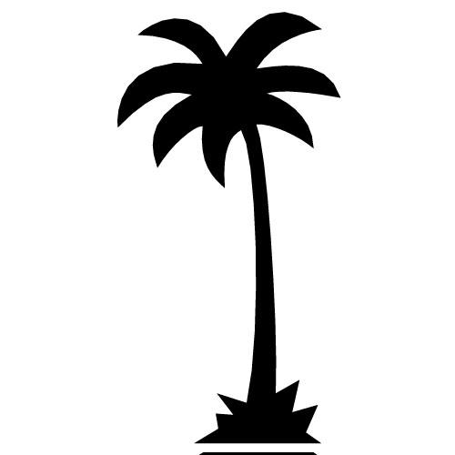 Palm Tree Silhouette Clip Art