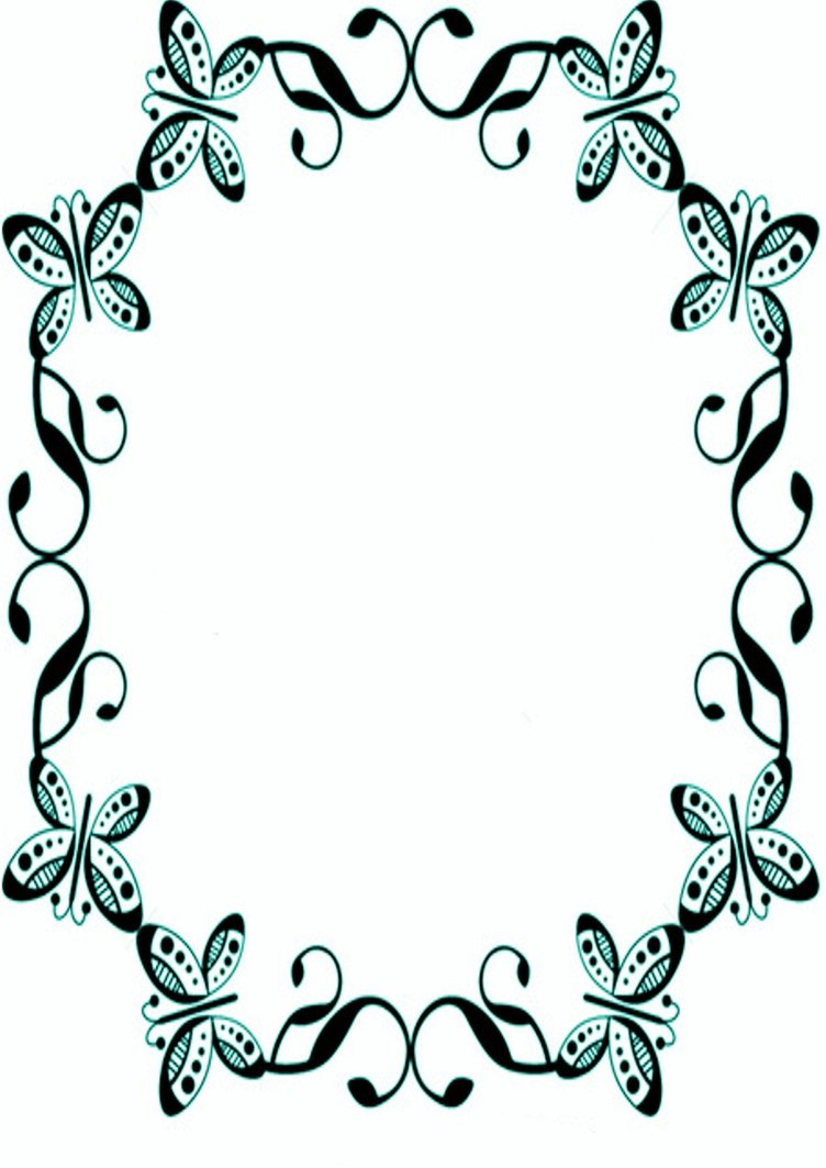images for gt butterfly borders designs png clipartsco