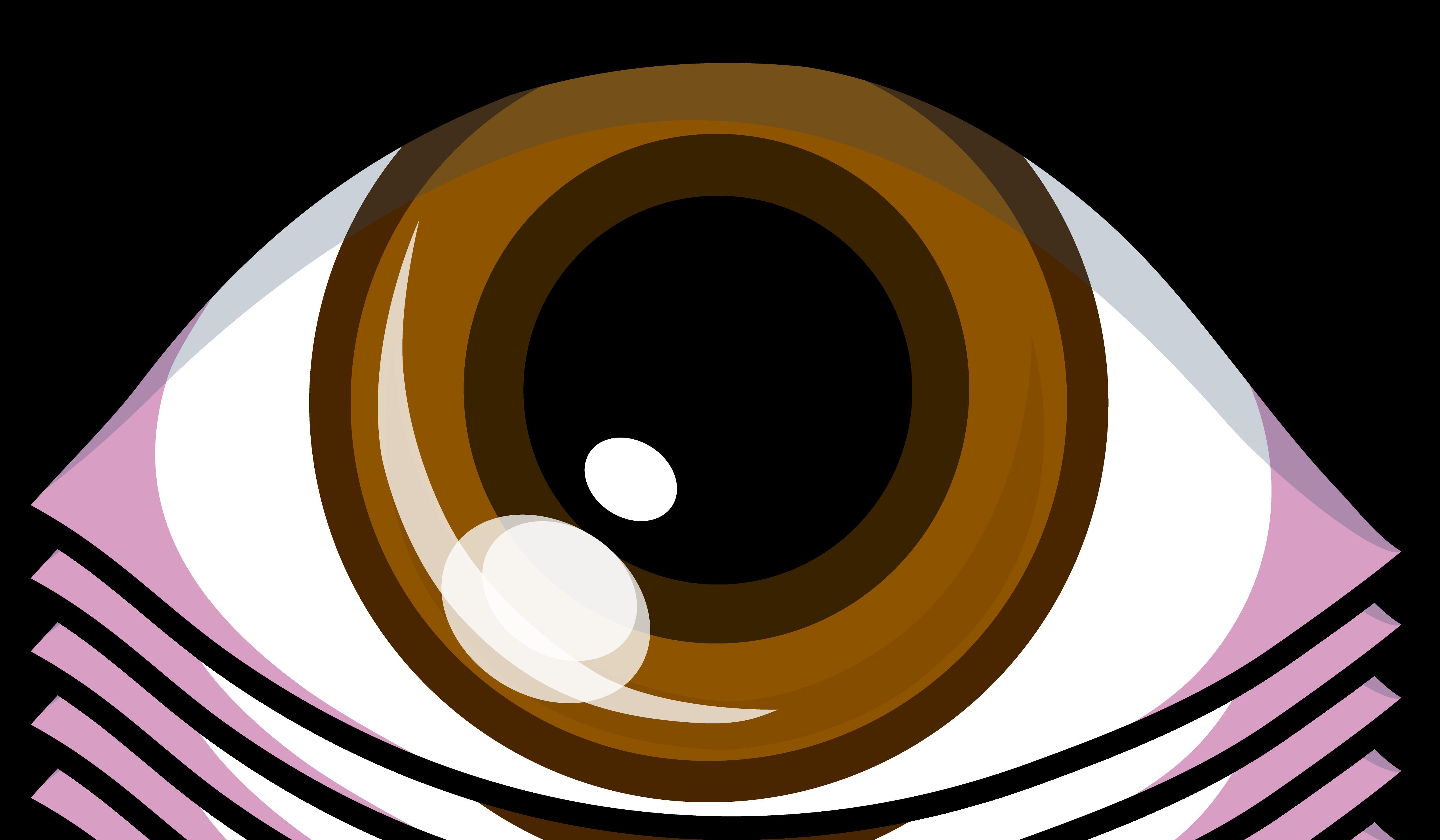 brown eyes eye cartoon clip cliparts symbol simple