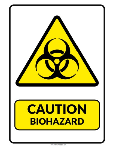 Impertinent image regarding biohazard sign printable