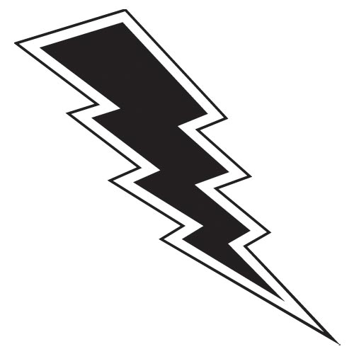 Lightning Bolt Vinyl Wall Art, Mirrorin - UK's No1 Childrens ...