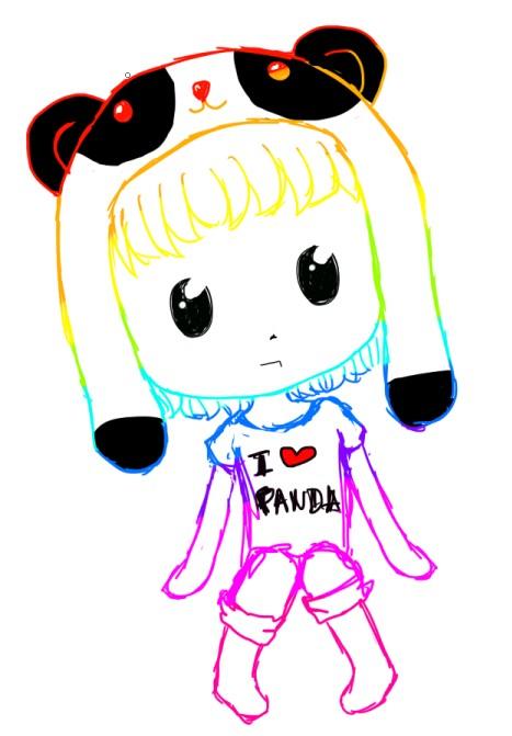 Chibi Girl Anime Panda...