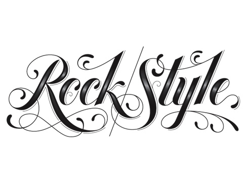 Rock Style Font Not Quite My Old Fashioned Style But Pretty