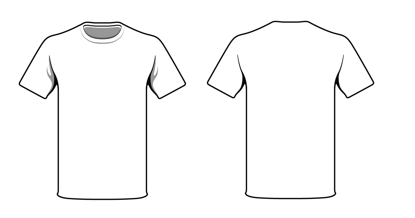 t shirt outline vector