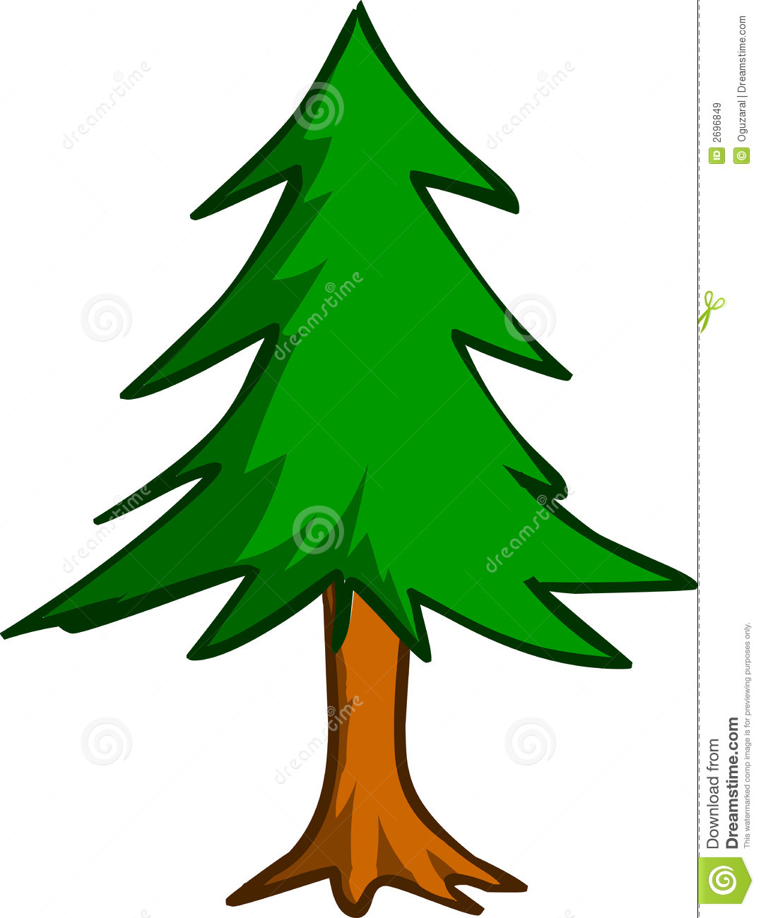 Forest Trees Cartoon -...