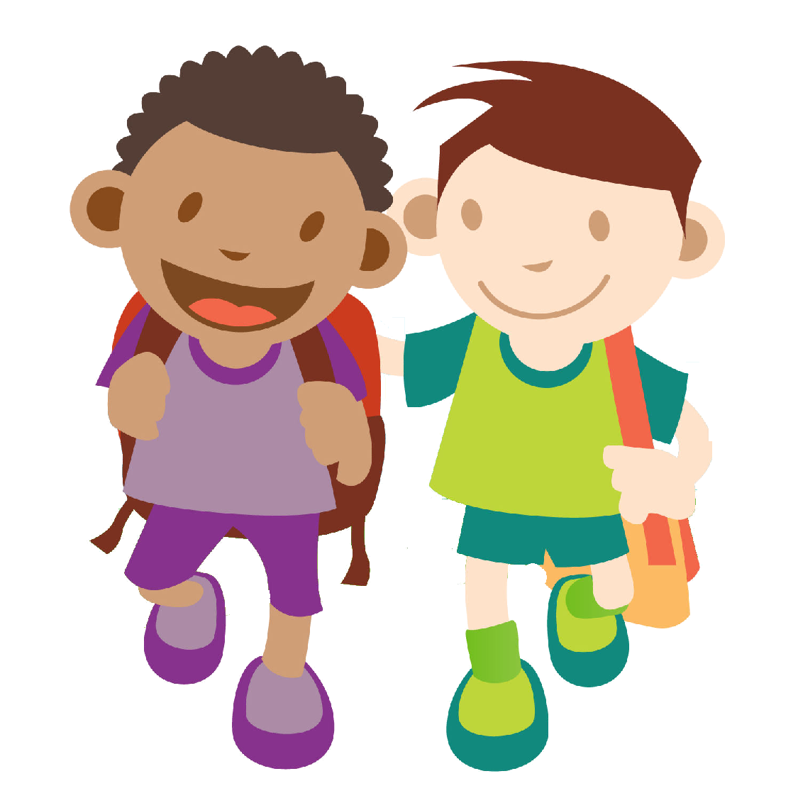 Kids Walking Clip Art - Cliparts.co