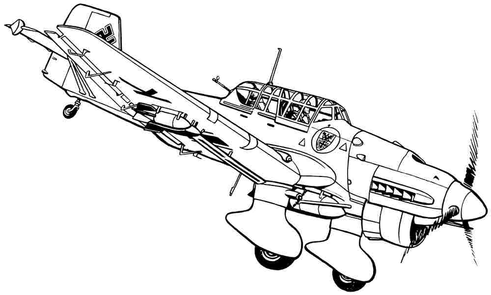 Military images free for Airplane coloring pages to print for free