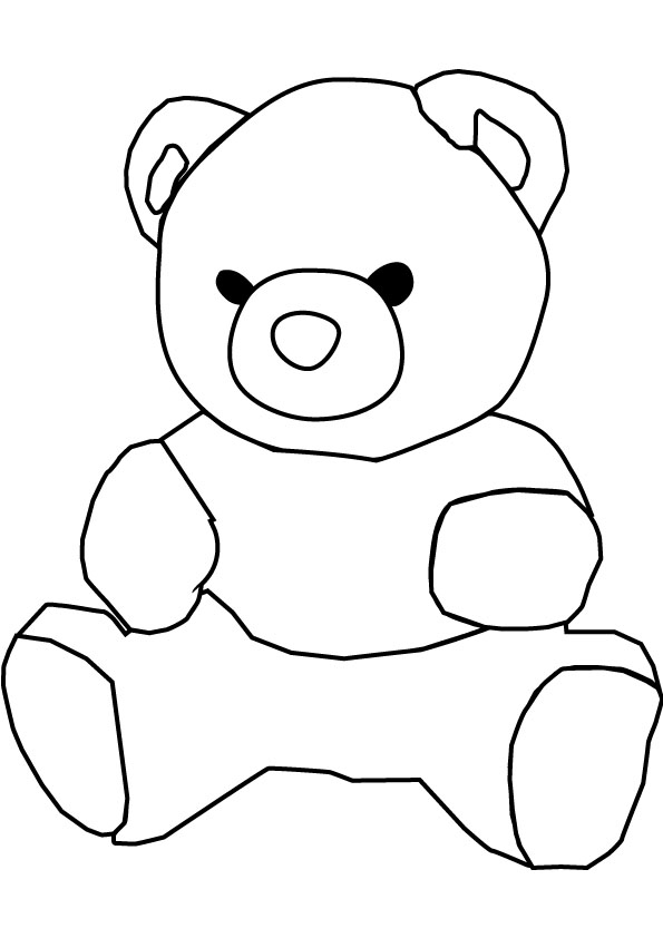 Teddy Bear Black And White