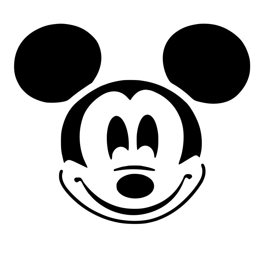 This is an image of Agile Mickey Mouse Pumpkin Stencils Printable
