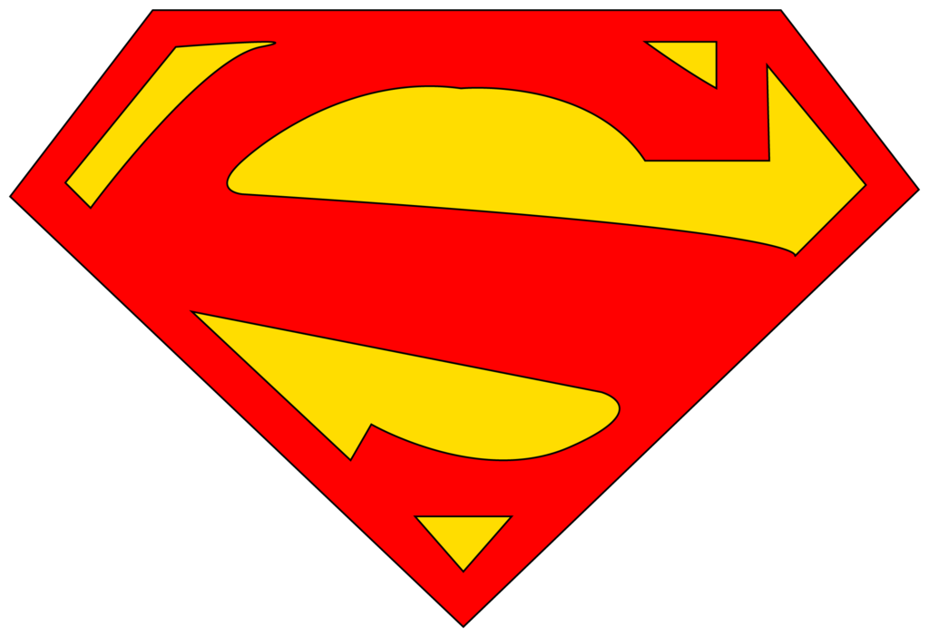 superman logo template clipartsco