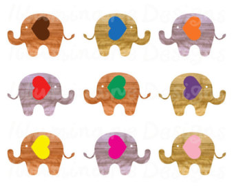 Popular items for elephant clip art on Etsy