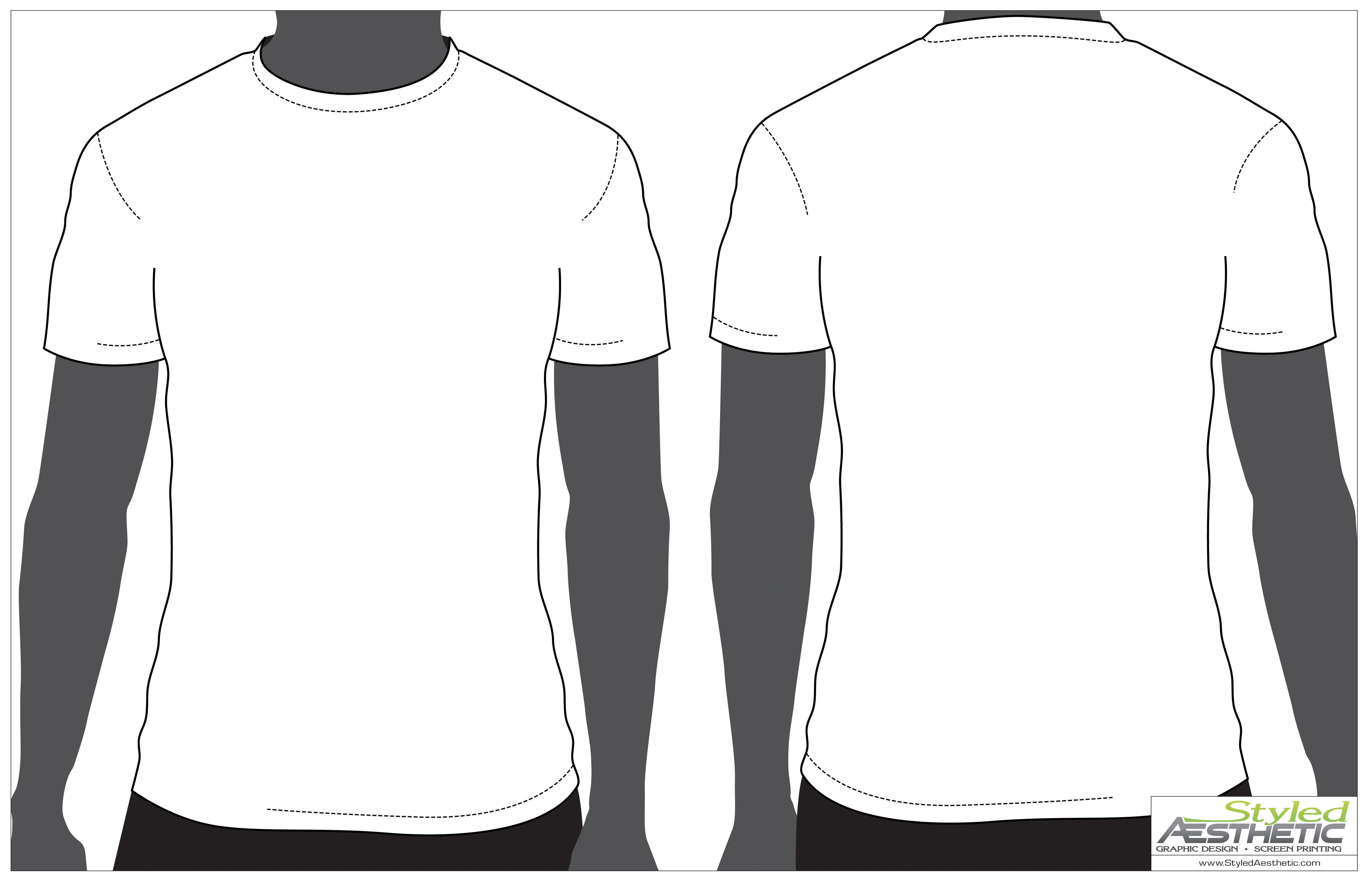 White T Shirt Template Model