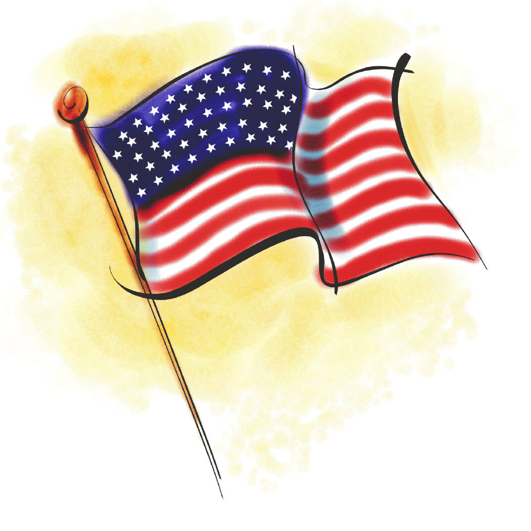 Animated American Flag Clip Art - Cliparts.co