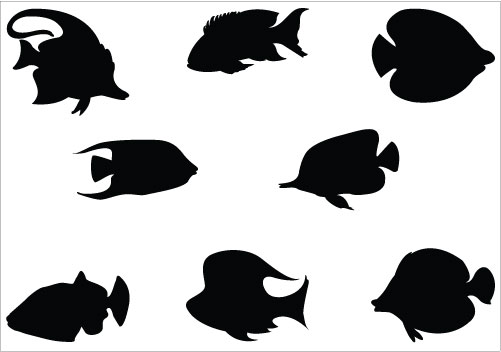 Coral Fish Silhouette Vector Graphic Clip art packSilhouette Clip Art