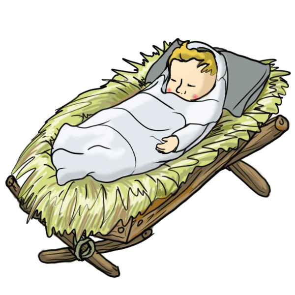 free clipart of baby jesus in a manger - photo #3