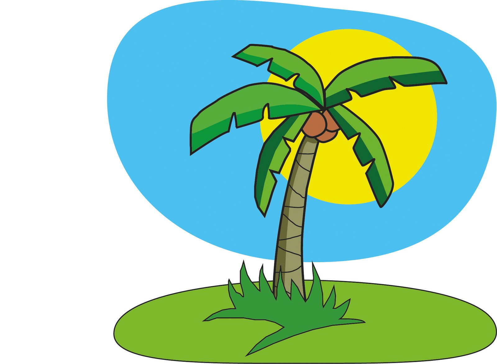 Cartoon Pictures Of Coconut Trees - ClipArt Best