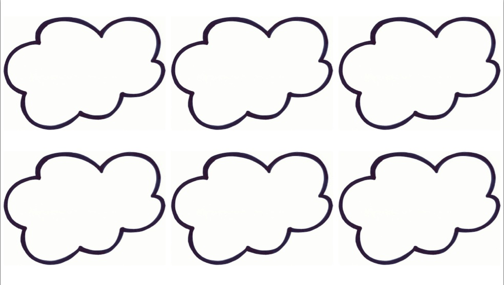 Clever image pertaining to printable cloud template