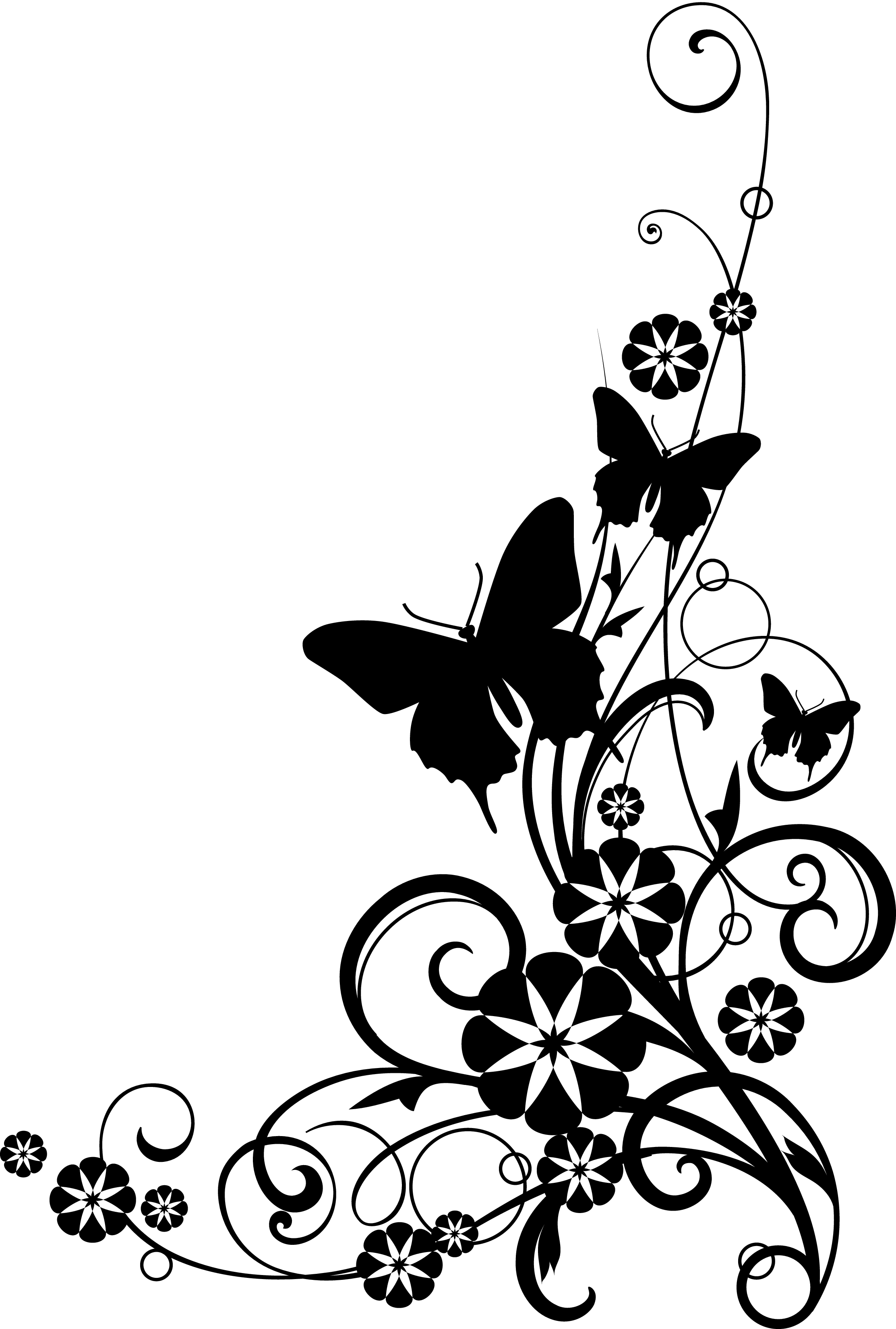 Flower Border Clipart Black And White | Clipart Panda - Free ...