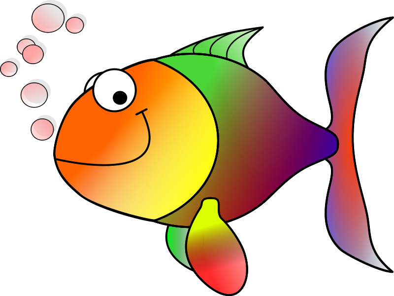 School Of Fish Clipart