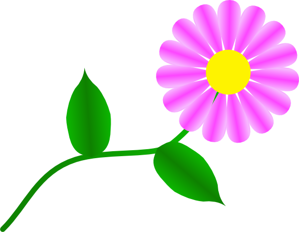 Daisy Fuchsia clip art - vector clip art online, royalty free ...