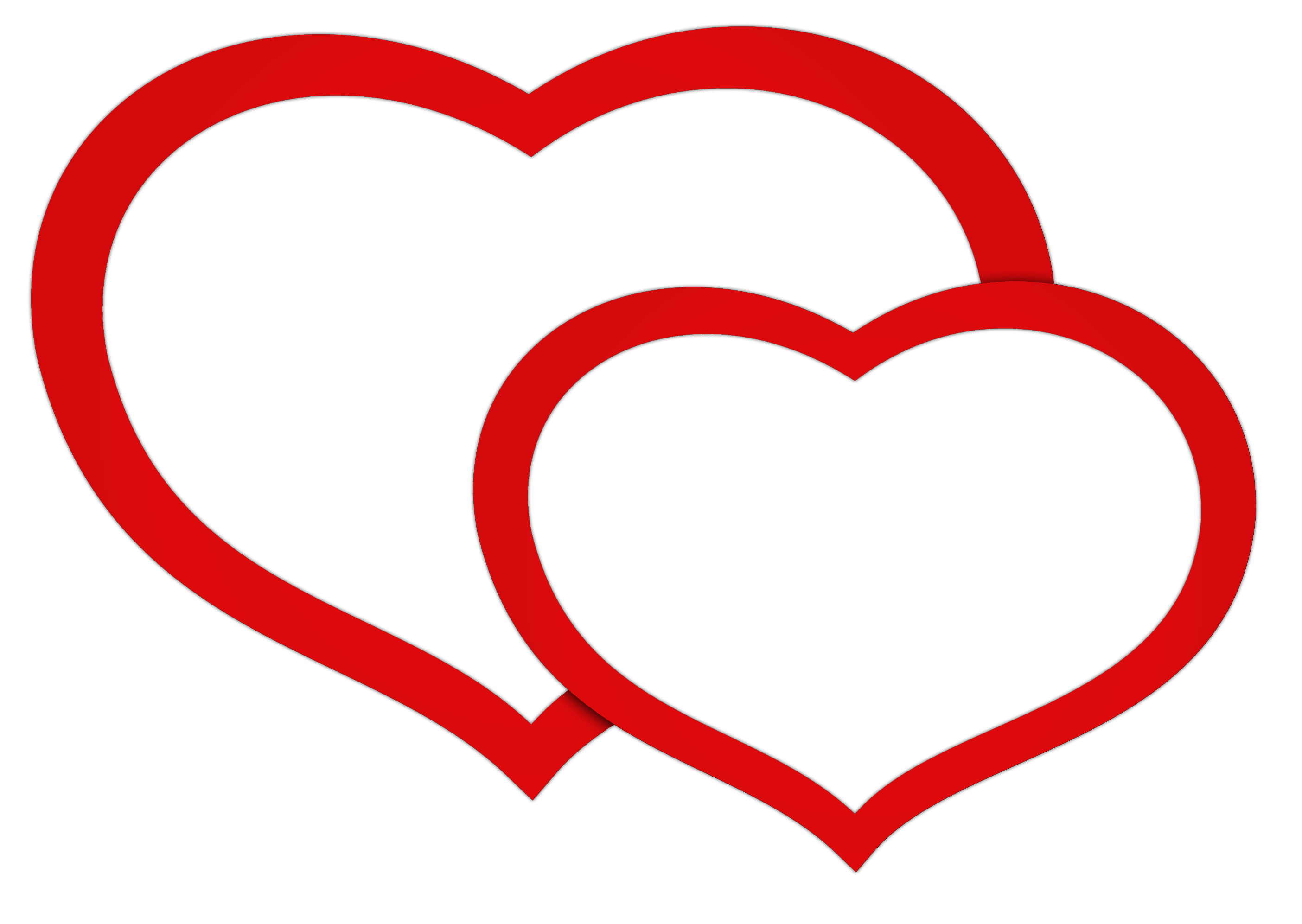 Double Hearts Clip Art - Cliparts.co