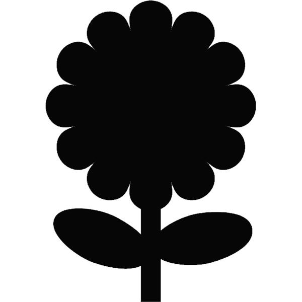 Flower Petal Silhouette