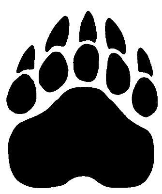 Bear Paw Stencil Cliparts Co