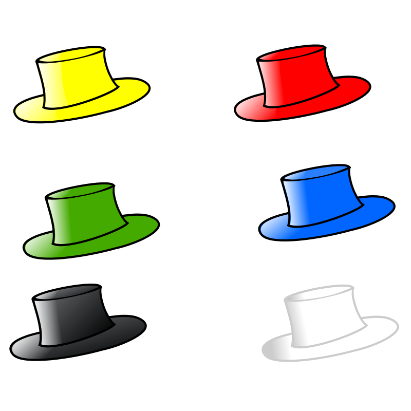 Clipart - Six Hats 3