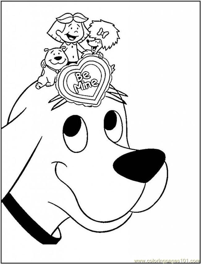 printable clifford coloring pages - photo#16
