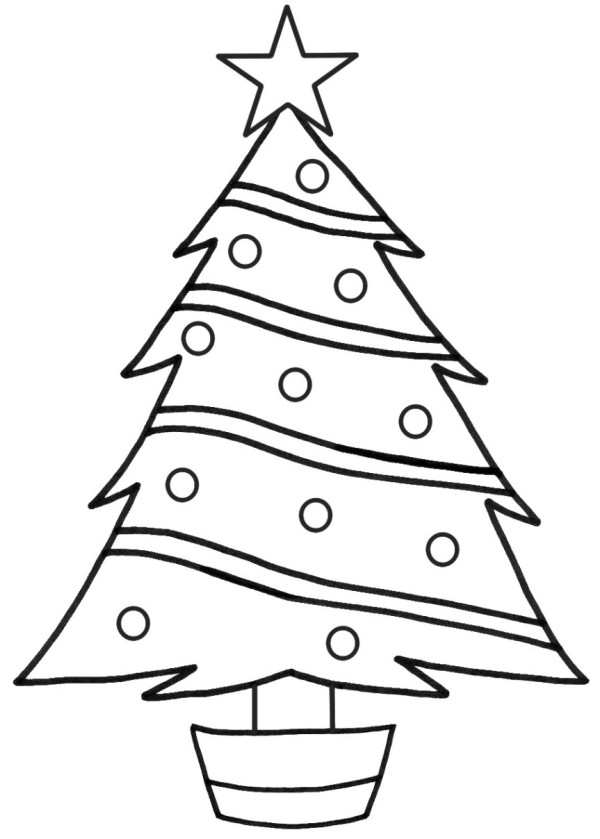 christmas tree present coloring pages - photo#7