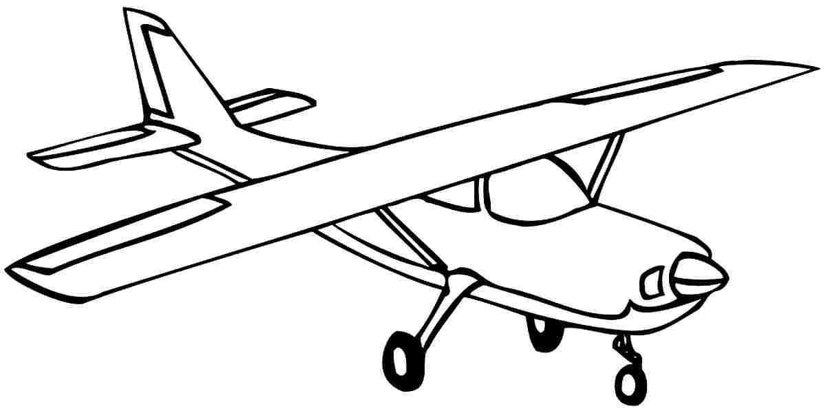 Printable Transportation Air Plane Colouring Pages